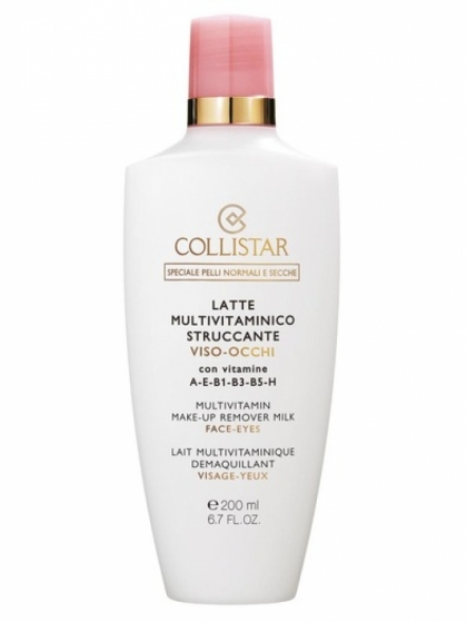 Collistar Special Normal and Dry Skins Multivitamin Make-Up Remover Milk for Face and Eyes 200 ml