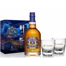 Chivas Regal 18YO + 2 glasses 40%   0.70L